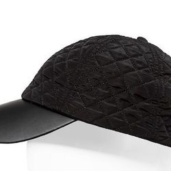 """<strong>Zara</strong> Synthetic Leather Cap in Black, <a href=""""http://www.zara.com/us/en/man/accessories/caps-and-hats/synthetic-leather-cap-c284006p1296161.html"""">$19.90</a>"""