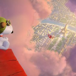 """Snoopy takes to the skies over Paris, to battle his arch nemesis in """"The Peanuts Movie."""""""