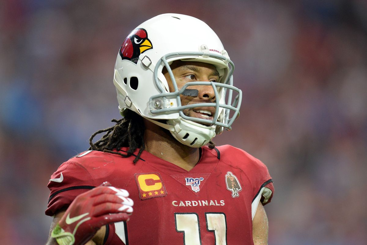 Arizona Cardinals wide receiver Larry Fitzgerald during a game at State Farm Stadium.