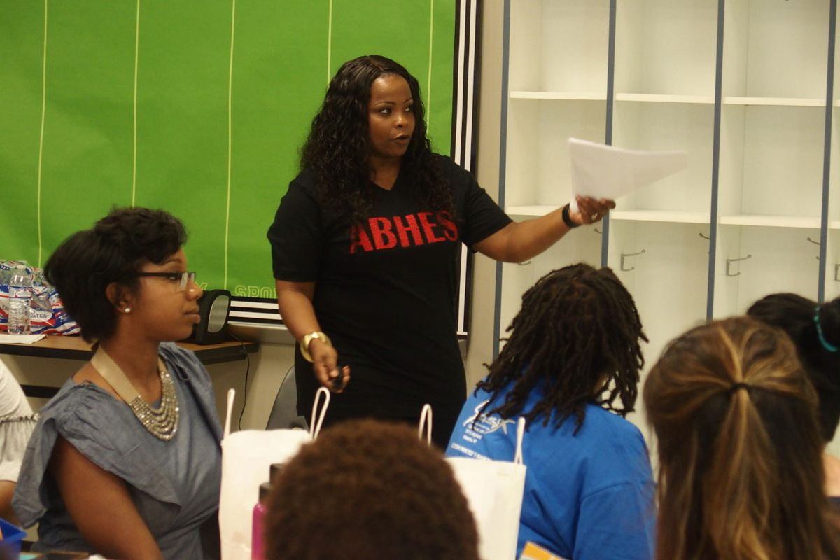 Principal Melody Smith discusses how students at A.B. Hill Elementary grew significantly in test scores.