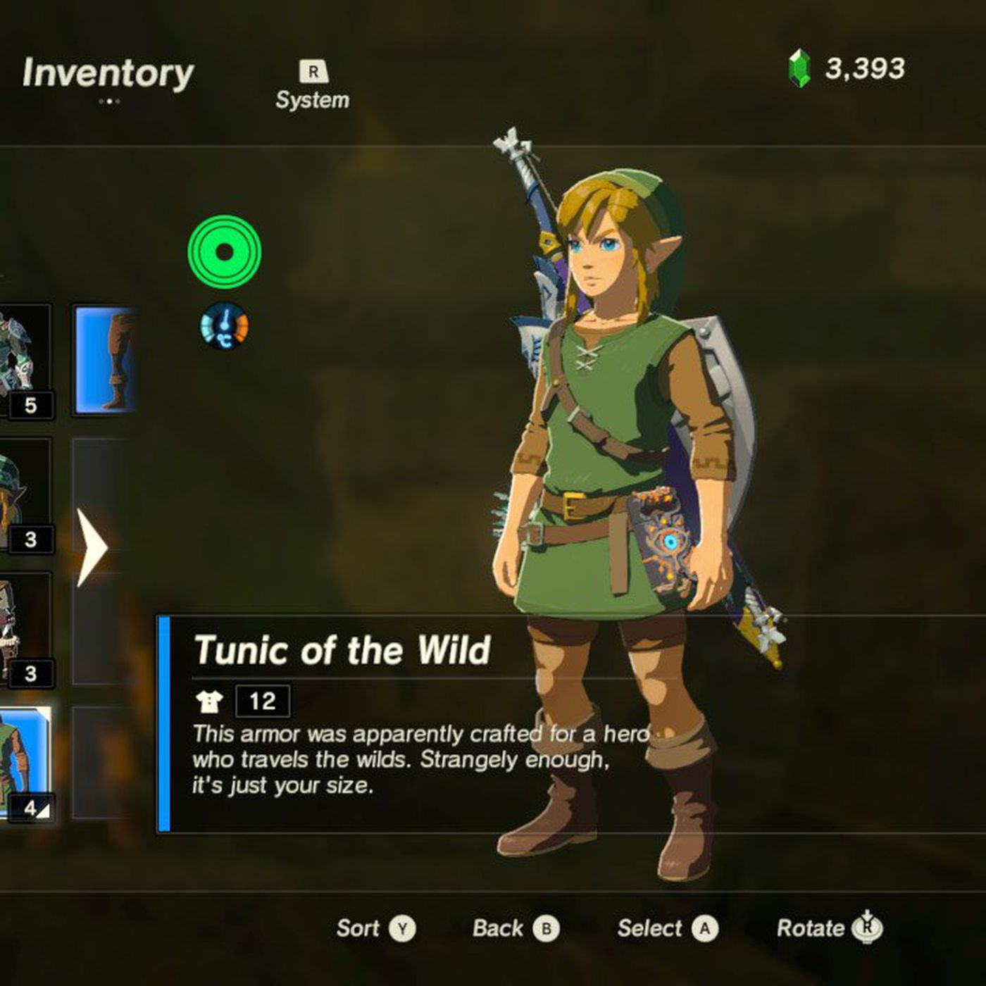 You Can Unlock Link S Classic Green Tunic In The Legend Of Zelda