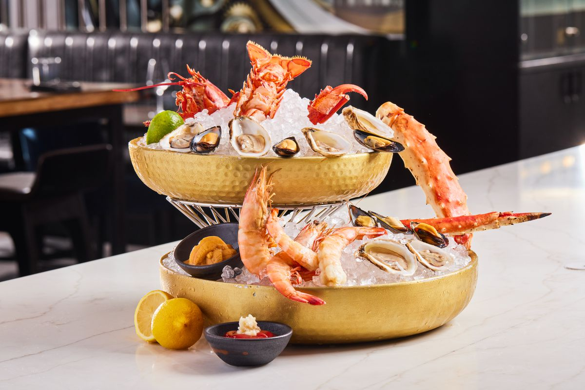 Seafood tower at The Vault Steakhouse