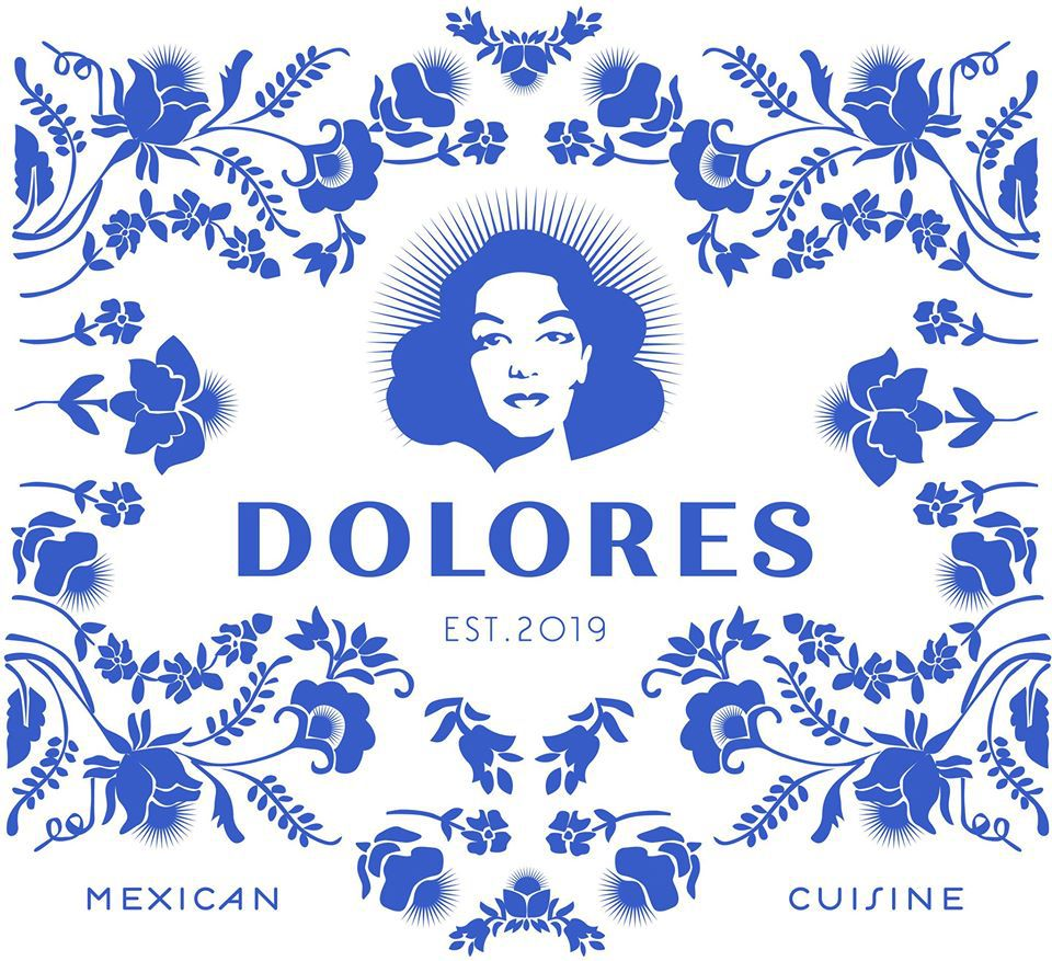 blue and white brand imagery for a mexican restaurant in providence