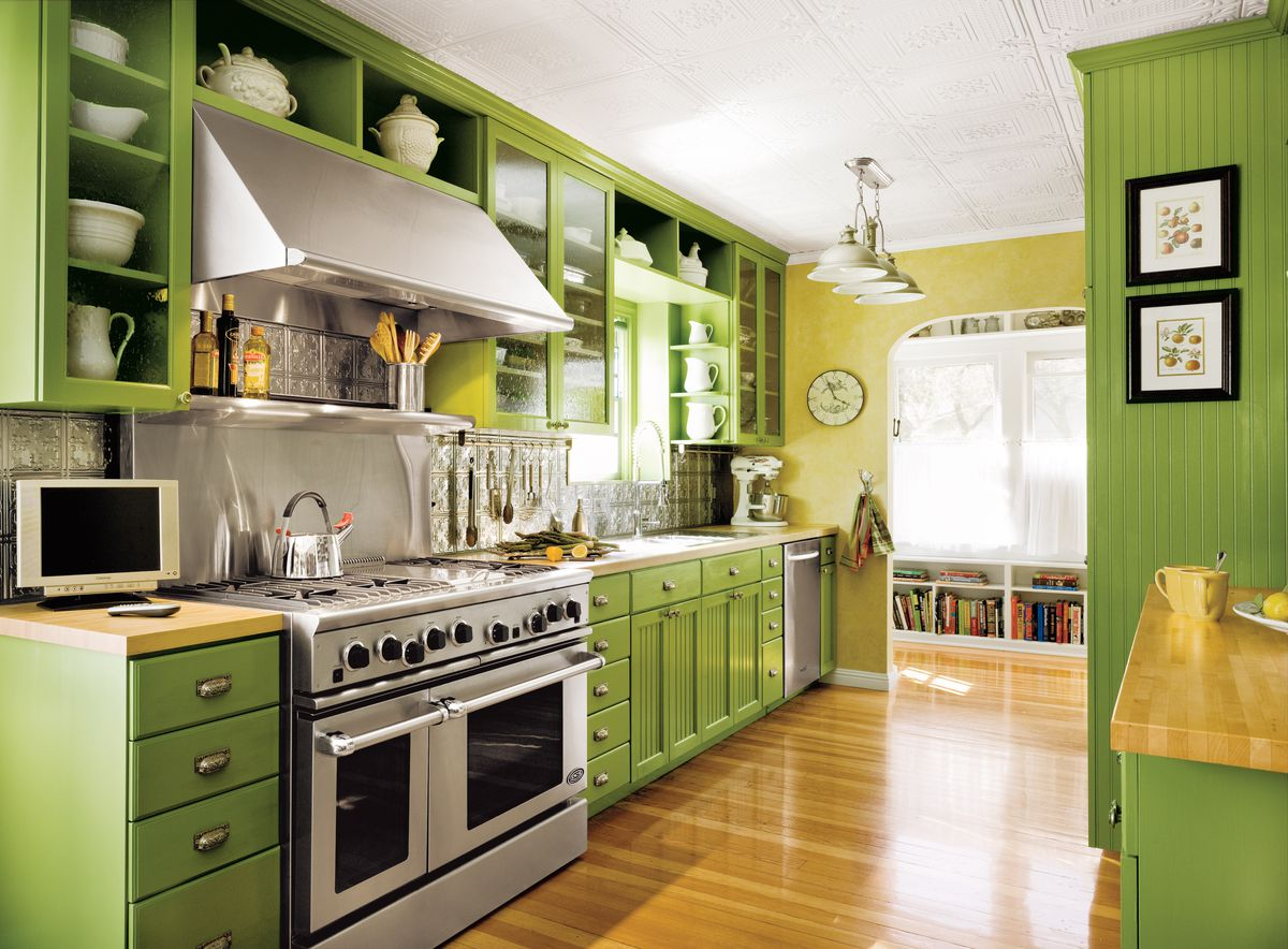 Editors Picks Our Favorite Green Kitchens This Old House