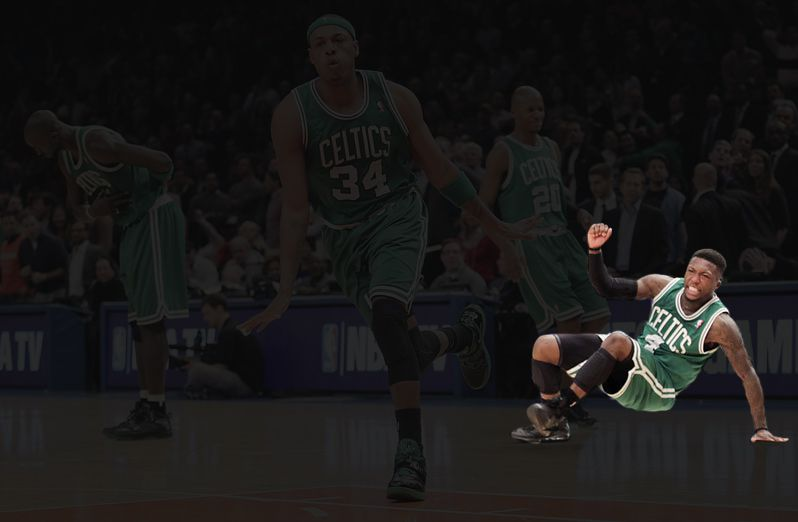 The same photo with Nate Robinson highlighted