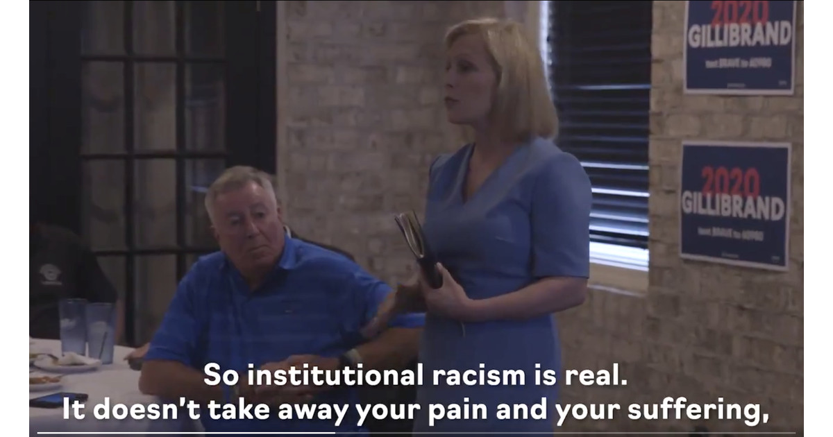 A white woman from Ohio asked Gillibrand about white privilege. Her answer was spot on.
