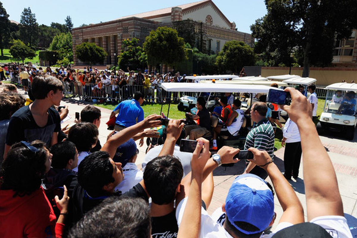 Be careful out there Bruins: try not to get clipped by Spanish football stars and their fancy golf carts this summer.