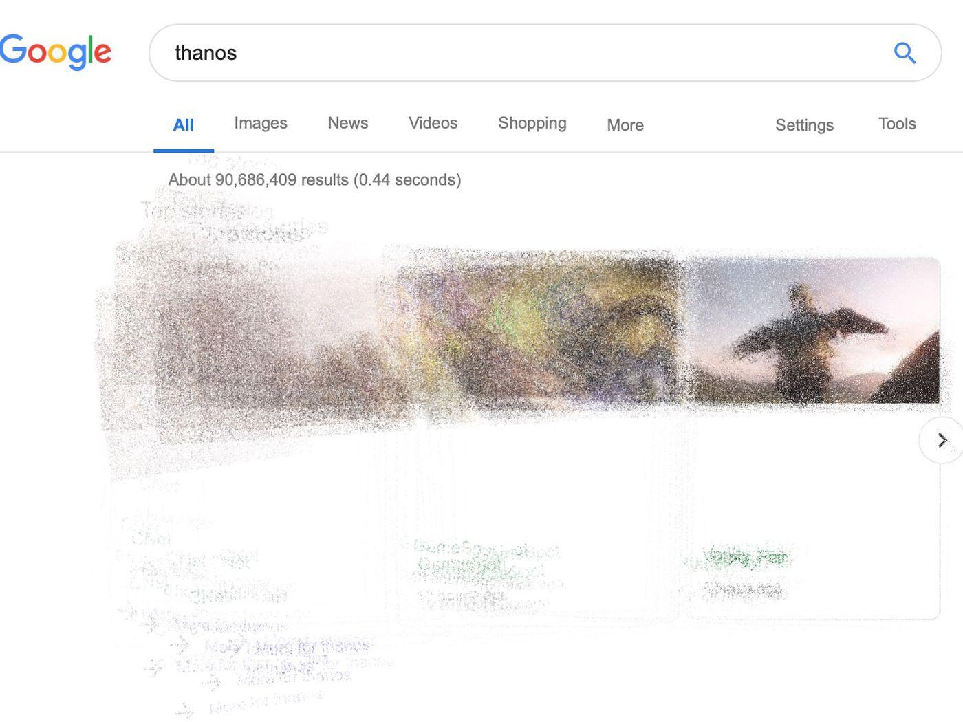 Easter Eggs Google Thanos