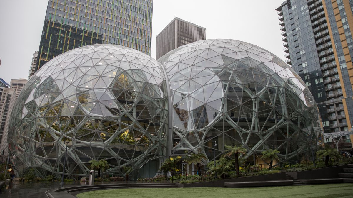 Inside the amazon spheres the plants the architecture for Garden design amazon
