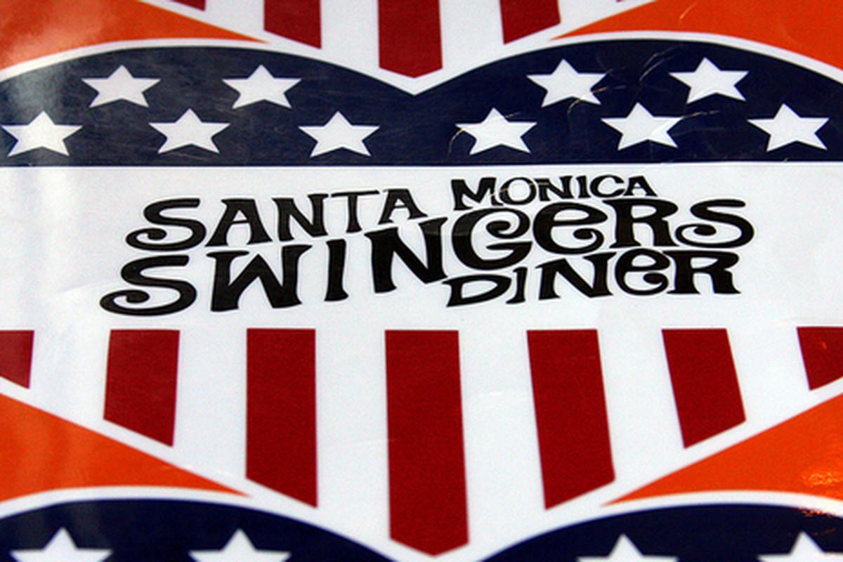 Menu cover at Swingers, Santa Monica.