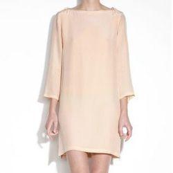 "<b>A.P.C.</b> silk dress with shoulder tie, $335 at <a href=""http://uscheckout.apc.fr/browse.cfm/4,2186.html?nav=women&subnav=dresses"">A.P.C.</a>"