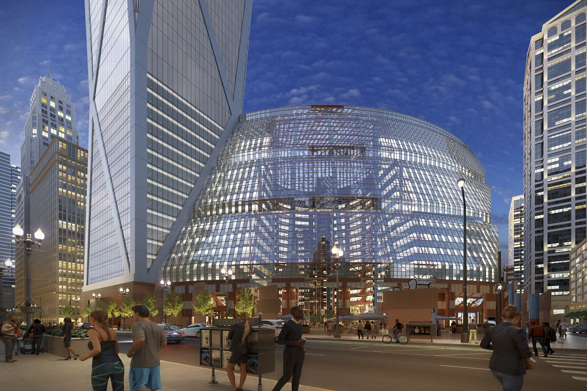 Newly Renovated And Re Imagined Central >> Saving The Thompson Center Jahn S Plan Visualized In New Renderings