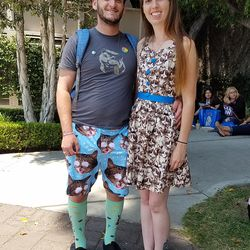 Daniel and Morgan know that the couple who theme dresses together, stays together.