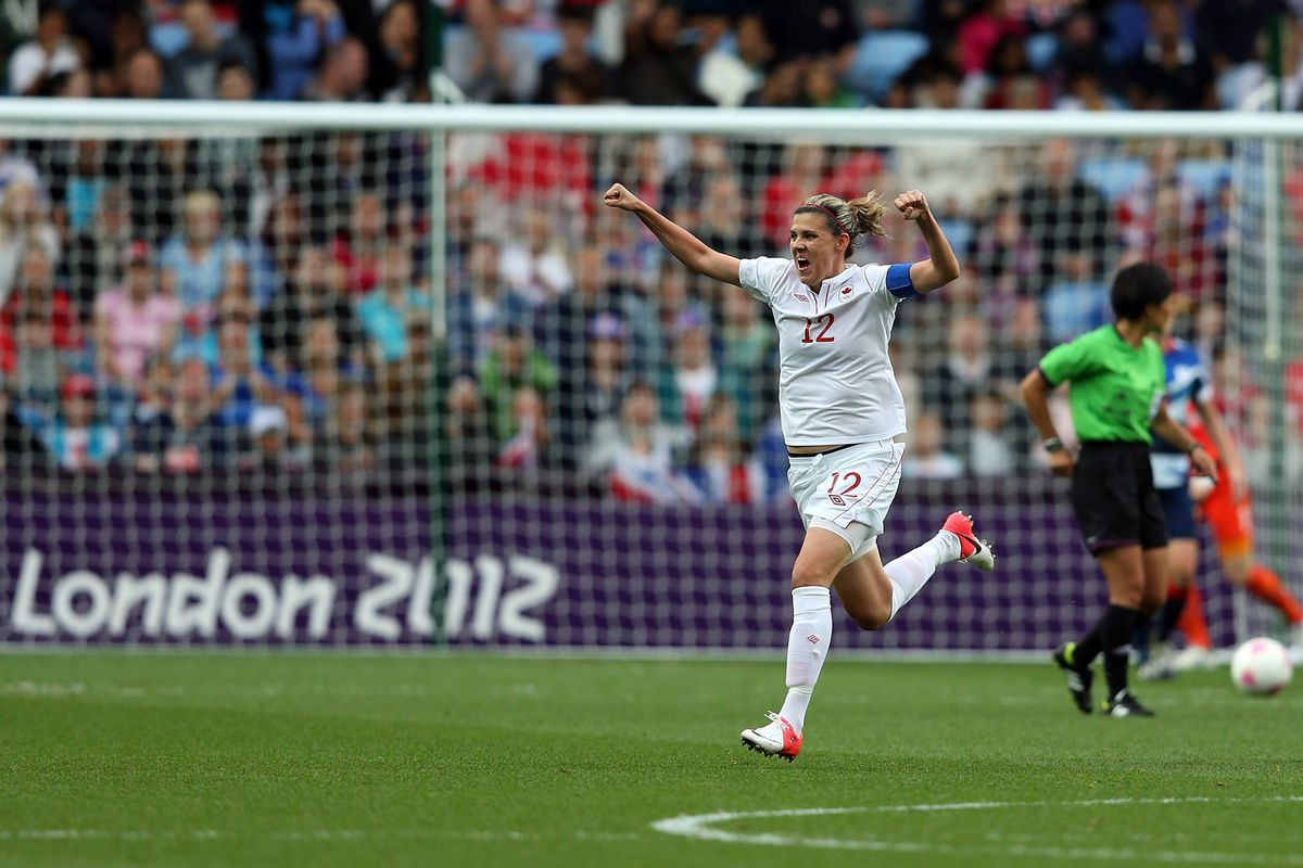 She was wearing the red of the Rose City today, but Christine Sinclair put the game to bed just the same