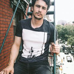 James Franco designed a t-shirt for 7 for All Mankind, because of course he did.