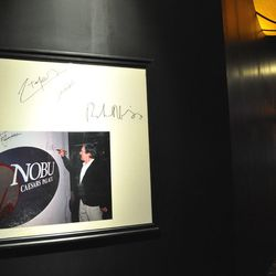 The signed wall remains for Nobu fans.