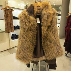 Faux fur vest, $479.50