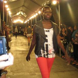 A FNO shirt on the runway, at the ASOS & Teen Vogue block party show