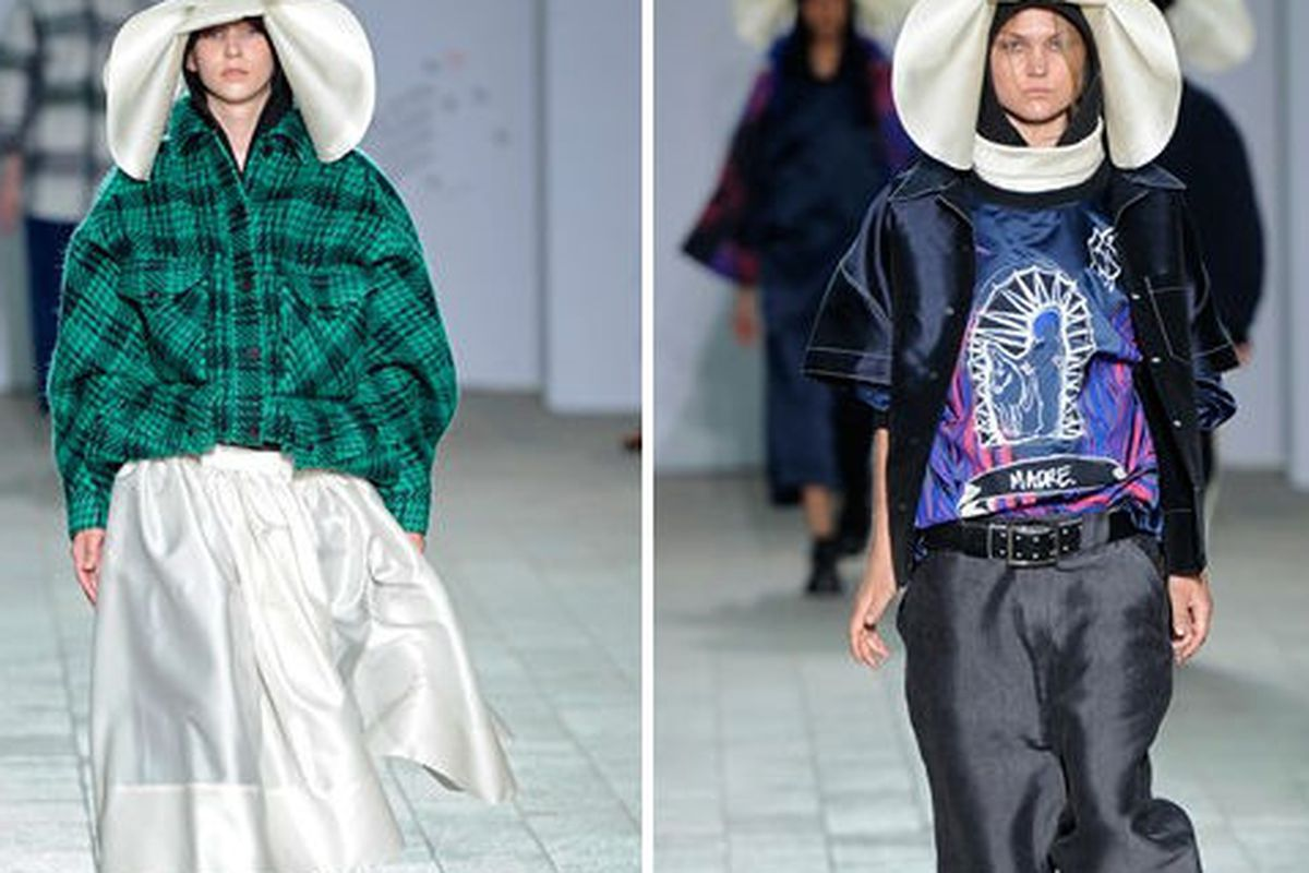 Erin Hawkes' hip hop nun looks took home the big prize at last night's Central Saint Martins BA show in London. Image via Vogue UK