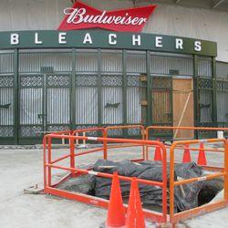 1:36 p.m. Bleacher gate -