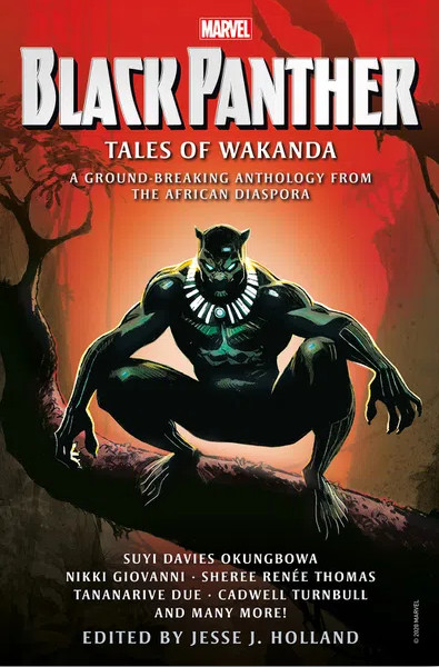 """Eighteen authors contributed to """"Black Panther: Tales of Wakanda,"""" edited by Jesse J. Holland."""