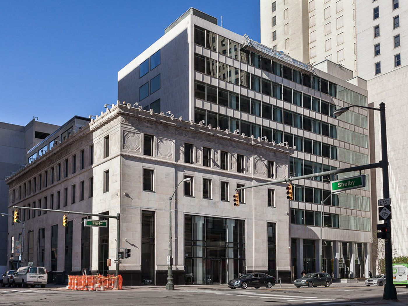 federal reserve building curbed detroit