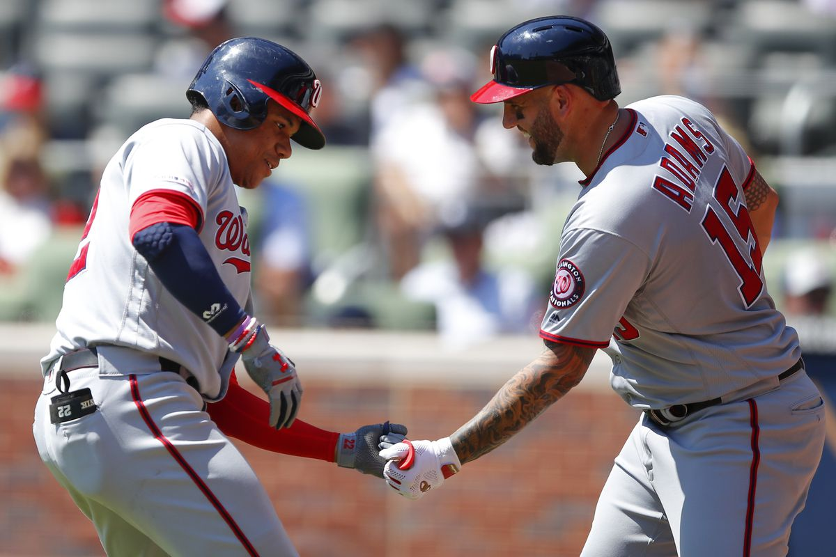 Washington Nationals avoid sweep, stop four-game slide, with 9-4 win over Atlanta Braves...