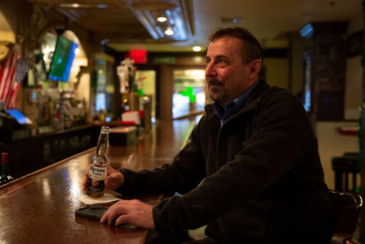 Construction manager and bar owner Jim McNeill did not let news of the virus deter him from drinking a Corona at Jack Demsey's in Midtown.