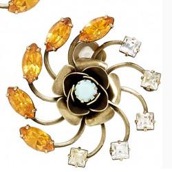 """Zura Swarovski Flower Stud Ring, $75 via <a href=""""http://thestore.com/os/zura-swarovski-flower-stud-earrings/TSZ20AL5UT"""">The Store</a>"""