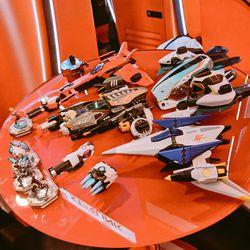 An assortment of <em>Starlink</em> toys shown at PAX West.
