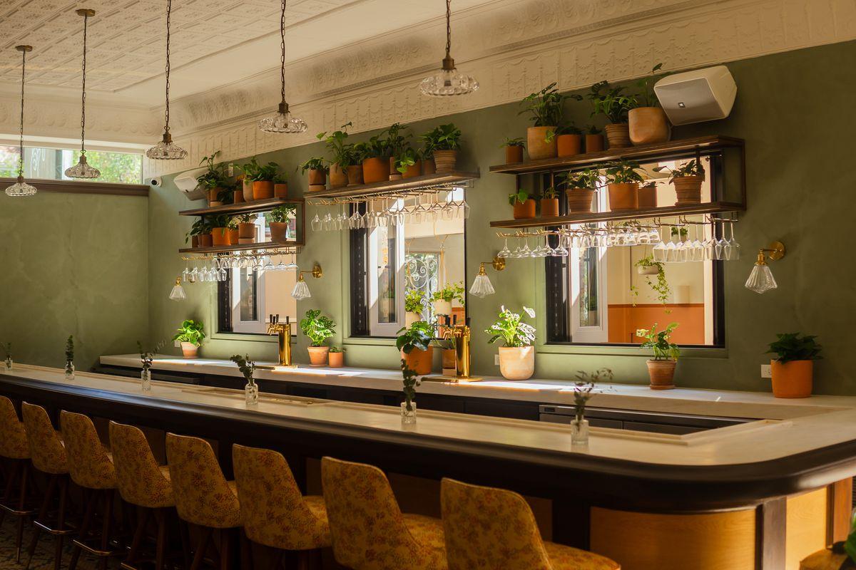 An indoor bar.