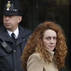 Rebekah Brooks, the former chief of News Corp.'s British operations, leaves the Old Bailey court in London London, Wednesday, Sept. 26, 2012. Brooks was in court to face charges connected to the phone hacking scandal that rocked Rupert Murdoch's News Corp. empire.