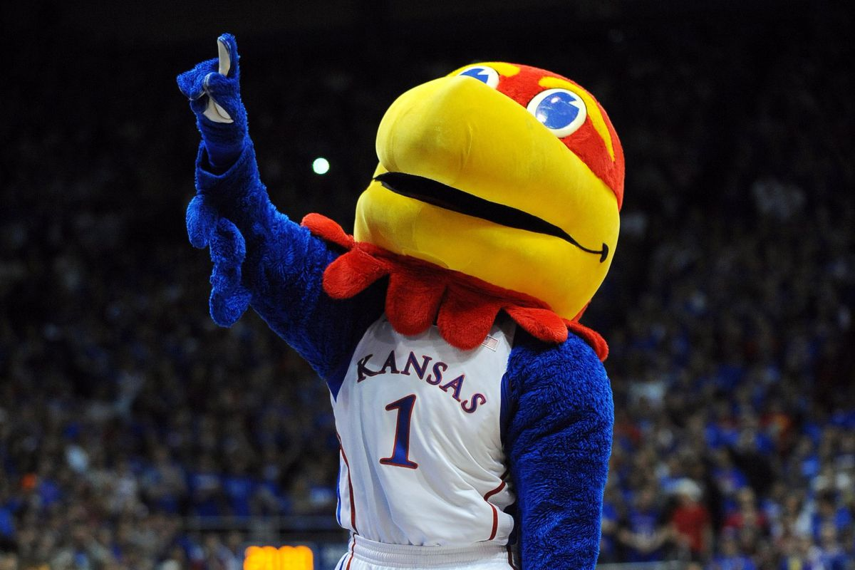 The Kansas Jayhawk counts the number of wins of their football team in 2012