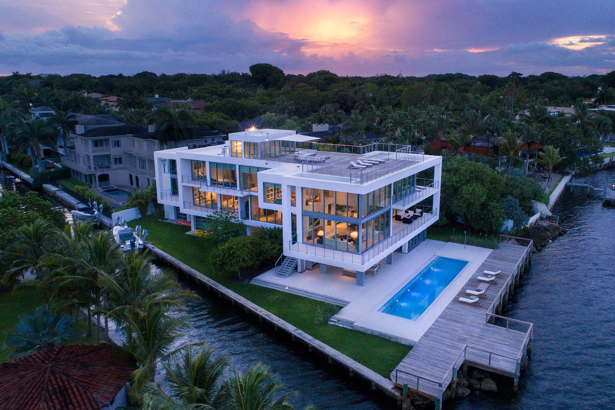 A modern waterfront home along matheson avenue in miami courtesy of one sothebys international realtys jorge uribe