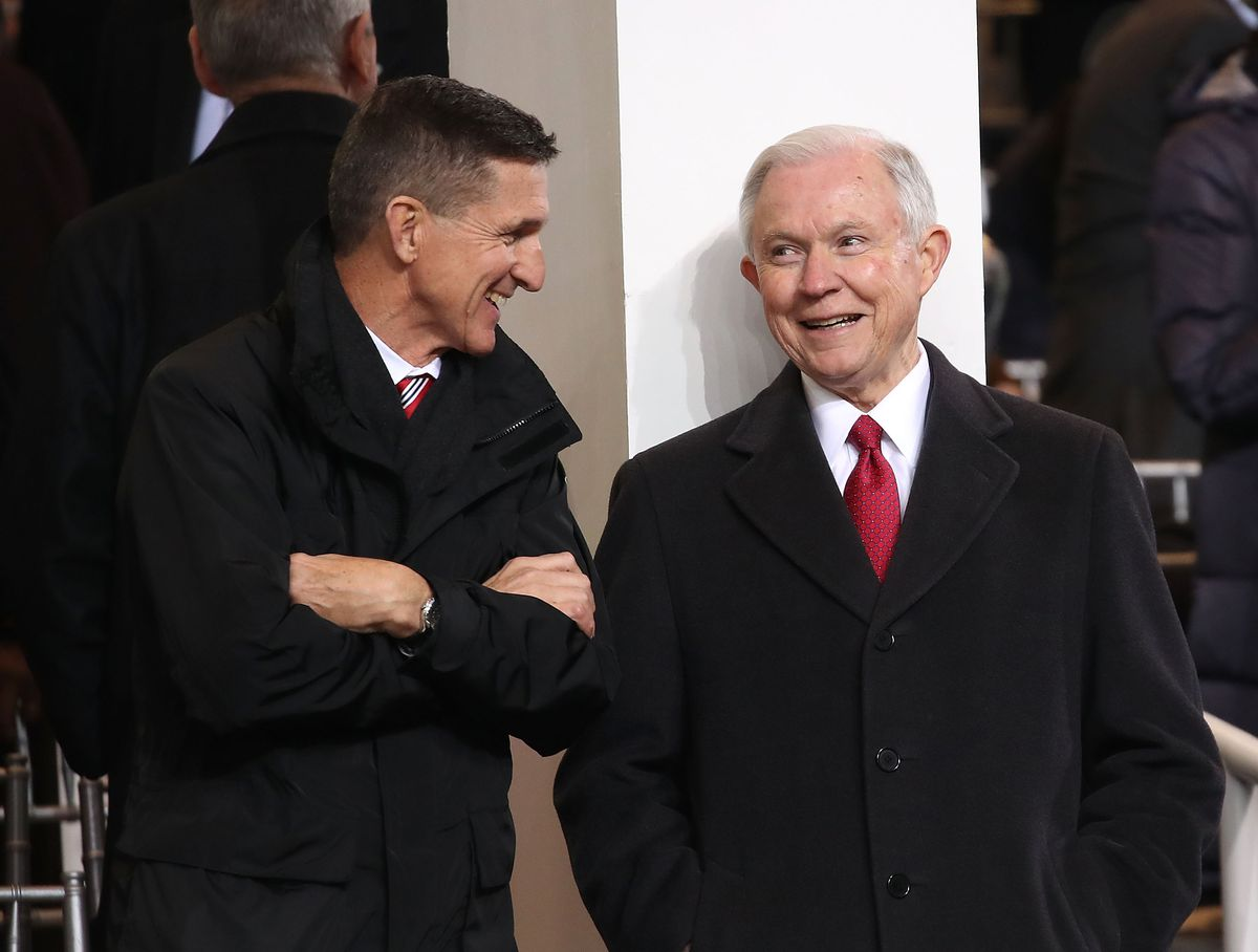 Michael Flynn and Jeff Sessions, in happier times.