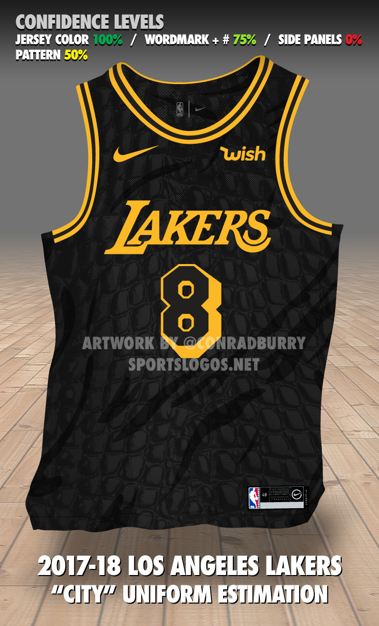 brand new 2b837 39aed Check out an early mock-up of the Lakers' final Nike jersey ...