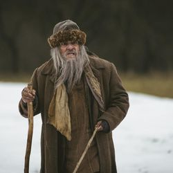 """John Rhys-Davies plays Martin Avdyeitch in """"Winter Thaw,"""" BYUtv's adaptation of a Tolstoy short story airing Thanksgiving Day."""