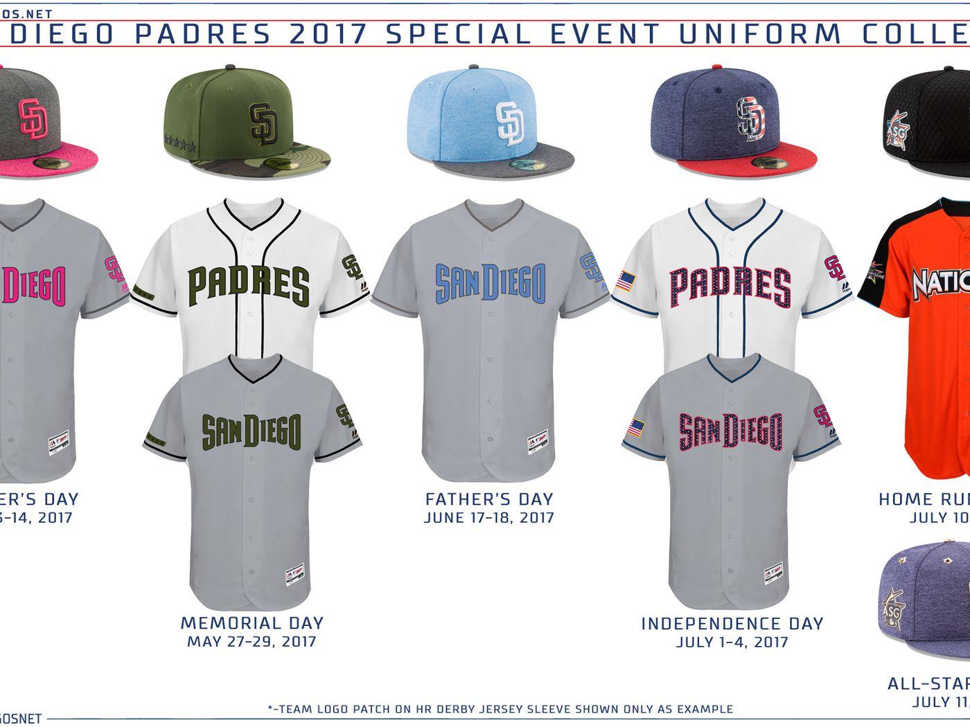 420719987c7 MLB Announces 2017 Special Event Uniforms - Gaslamp Ball