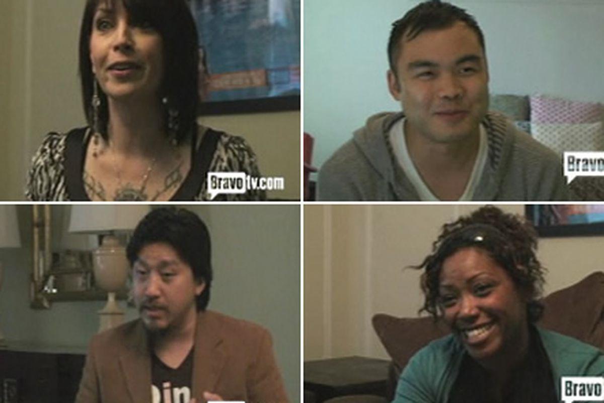 Clockwise, from top left: Dakota Weiss, Paul Qui, Nyesha Arrington, Edward Lee