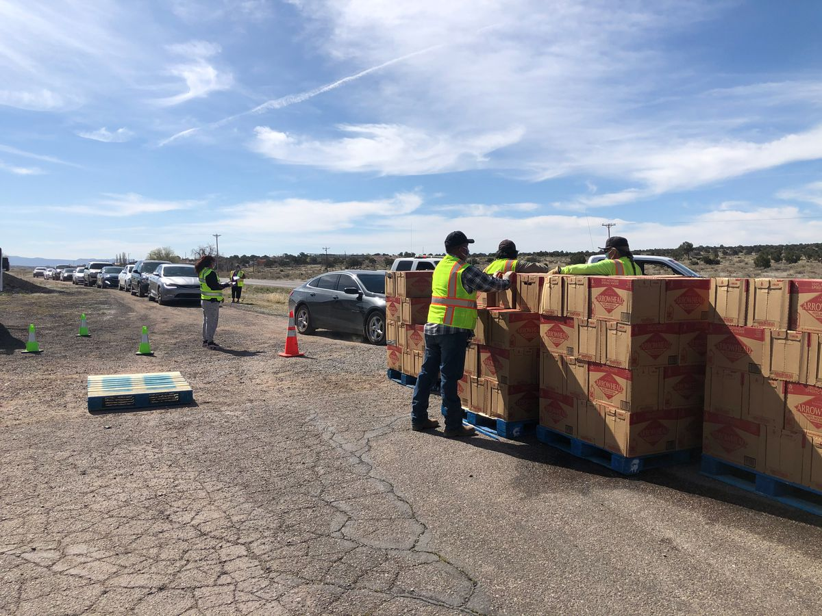 Unable to install home water systems during the pandemic, the Navajo Water Project distributed 250,856 gallons of bottled water donated by Nestle.