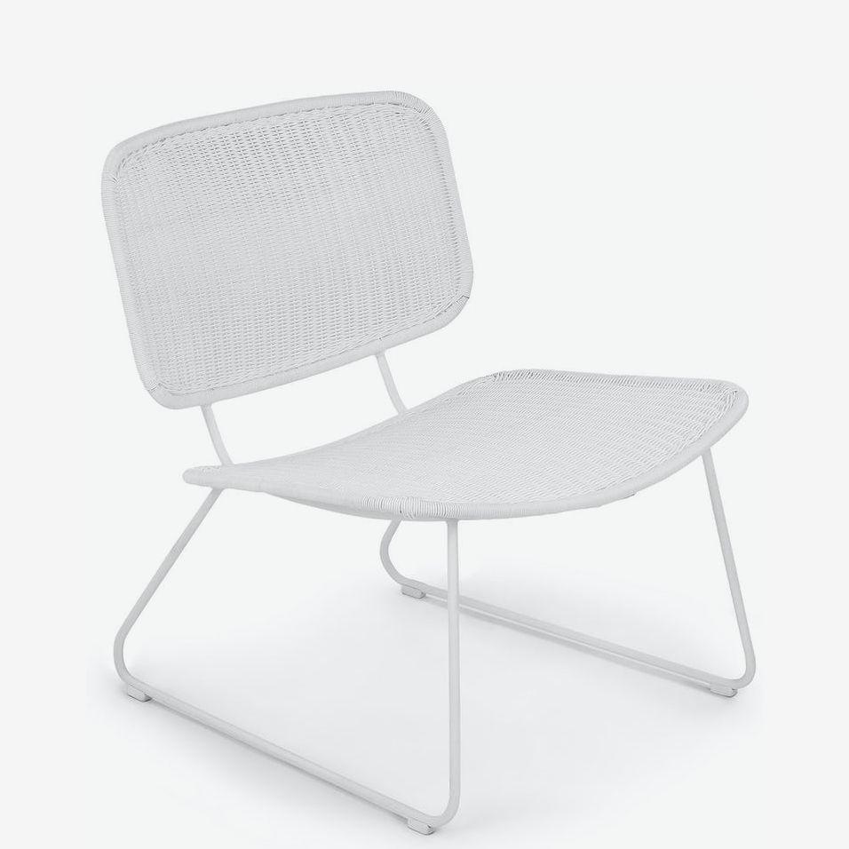 White lounge chair.