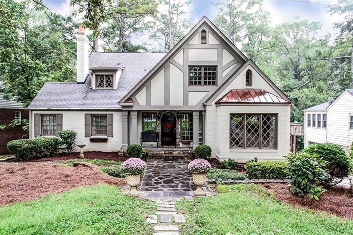 A for-sale English Tudor-style home in Atlanta's Buckhead neighborhood.