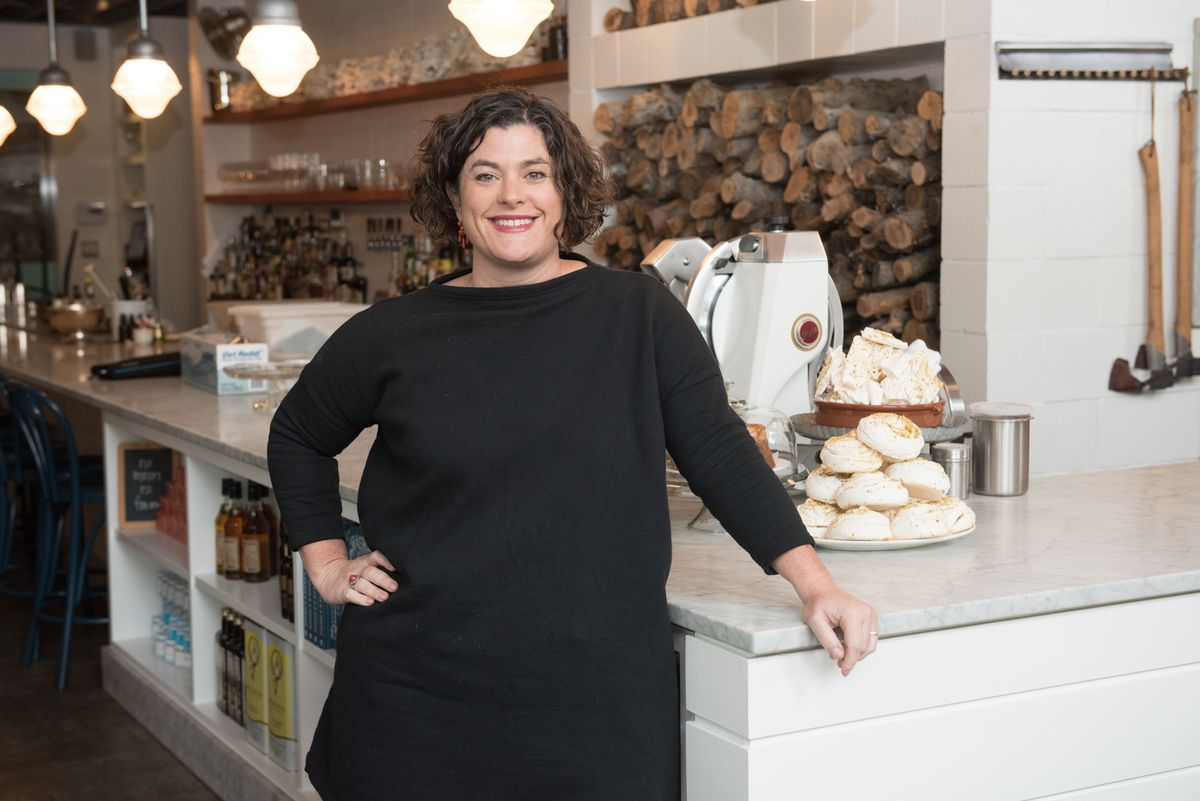 Chef and restaurateur Renee Erickson at The Whale Wins.