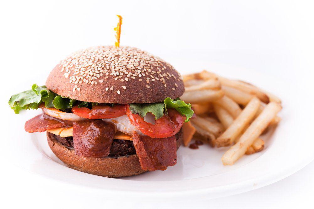 Mr. Natural's vegan burger