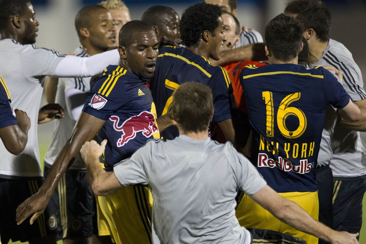 Not a rivalry. Nope. Guys fighting each other during a preseason friendly just kinda happens.