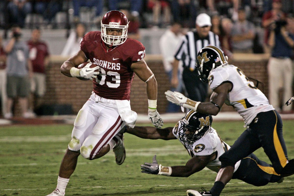 It's not very often that a team's fullback (Trey Millard, #33) could be considered their most valuable player.  (Photo by Brett Deering/Getty Images)