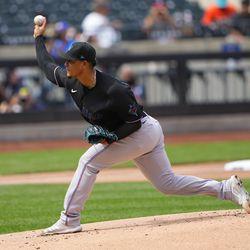 Elieser Hernandez, Marlins starting pitcher on Saturday