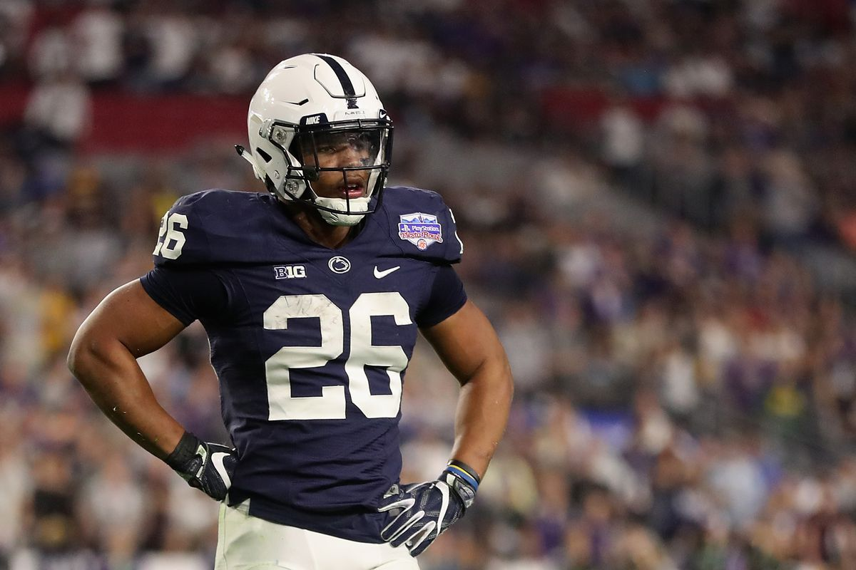 161e03494 Photo by Christian Petersen Getty Images. Saquon Barkley is worth a  top-five NFL Draft pick.