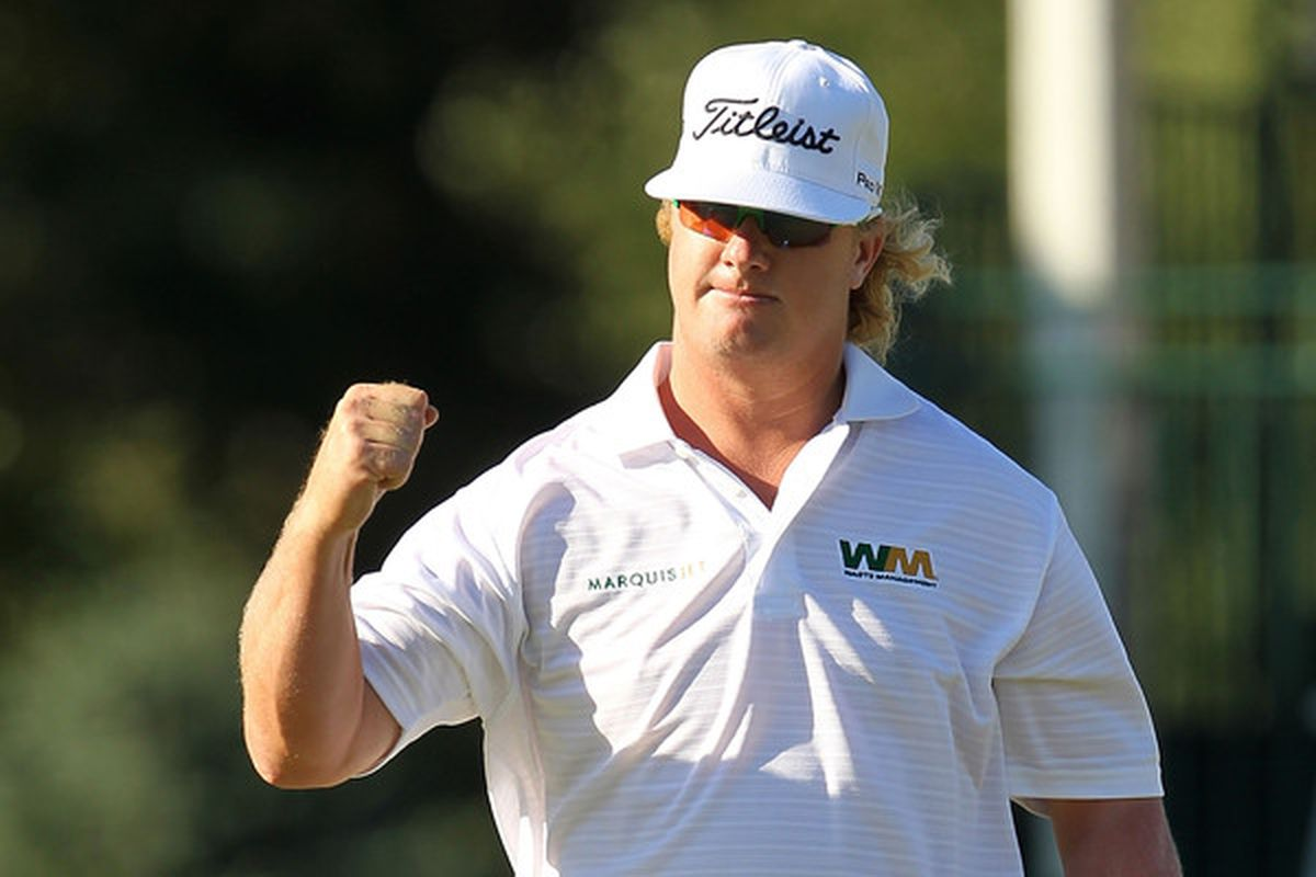 NORTON MA - SEPTEMBER 06:  Charley Hoffman  reacts on the 15th hole during the final round of the Deutsche Bank Championship at TPC Boston on September 6 2010 in Norton Massachusetts.  (Photo by Mike Ehrmann/Getty Images)