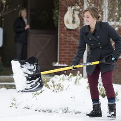 Shoveling snow for a neighbor could help both the neighbor and the person offering service.